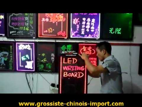 démonstration des tableaux lumineux à leds - youtube