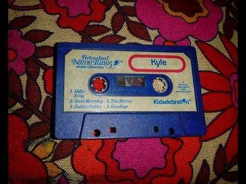 Kyle Name Tape - Personalized Name Tunes Music Cassette - Kidselebration
