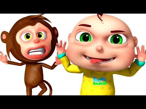 Thumbnail: Five Little Babies Playing With Monkeys | Zool Babies Fun Songs | Five Little Babies Collection