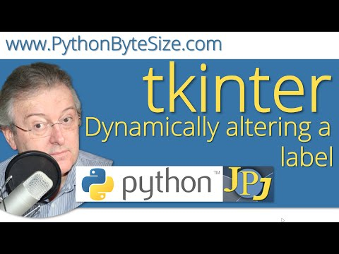 Dynamically altering a Python tkinter label