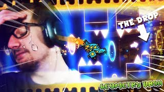 WHEN YOU DIE JUST BEFORE THE DROP.    Geometry Dash (Part 28) thumbnail