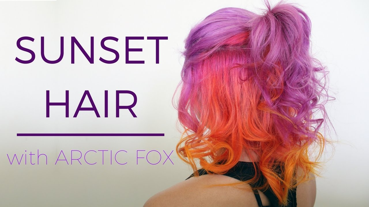 Purple Sunset Hair Using Arctic Fox YouTube