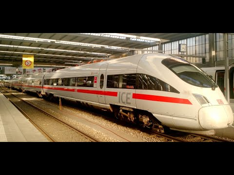 Deutsch Bahn : Frankfurt Flughafen & 250kmph ICE Journey to Stuttgart [Full HD]