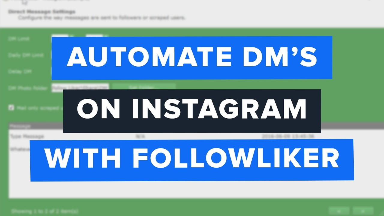 How to send a dm on 6 tag - Followliker Tutorial How To Send Automated Direct Messages On Instagram
