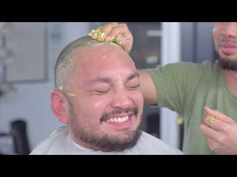ASMR Head shave with AVOCADO