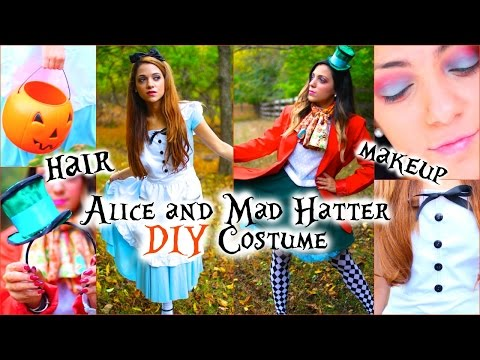 Alice and Mad Hatter DIY Costumes  Hair and Makeup!