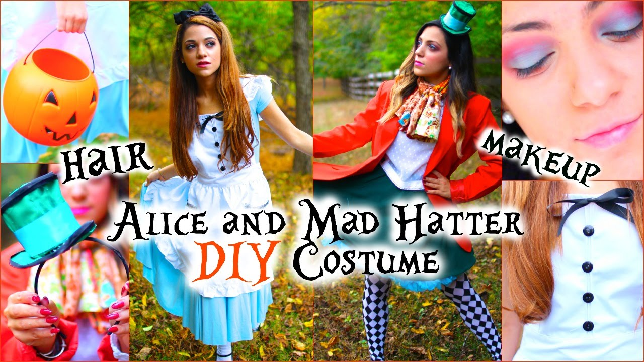 Original Halloween Costumes For Girls.Alice And Mad Hatter Diy Costumes Hair And Makeup