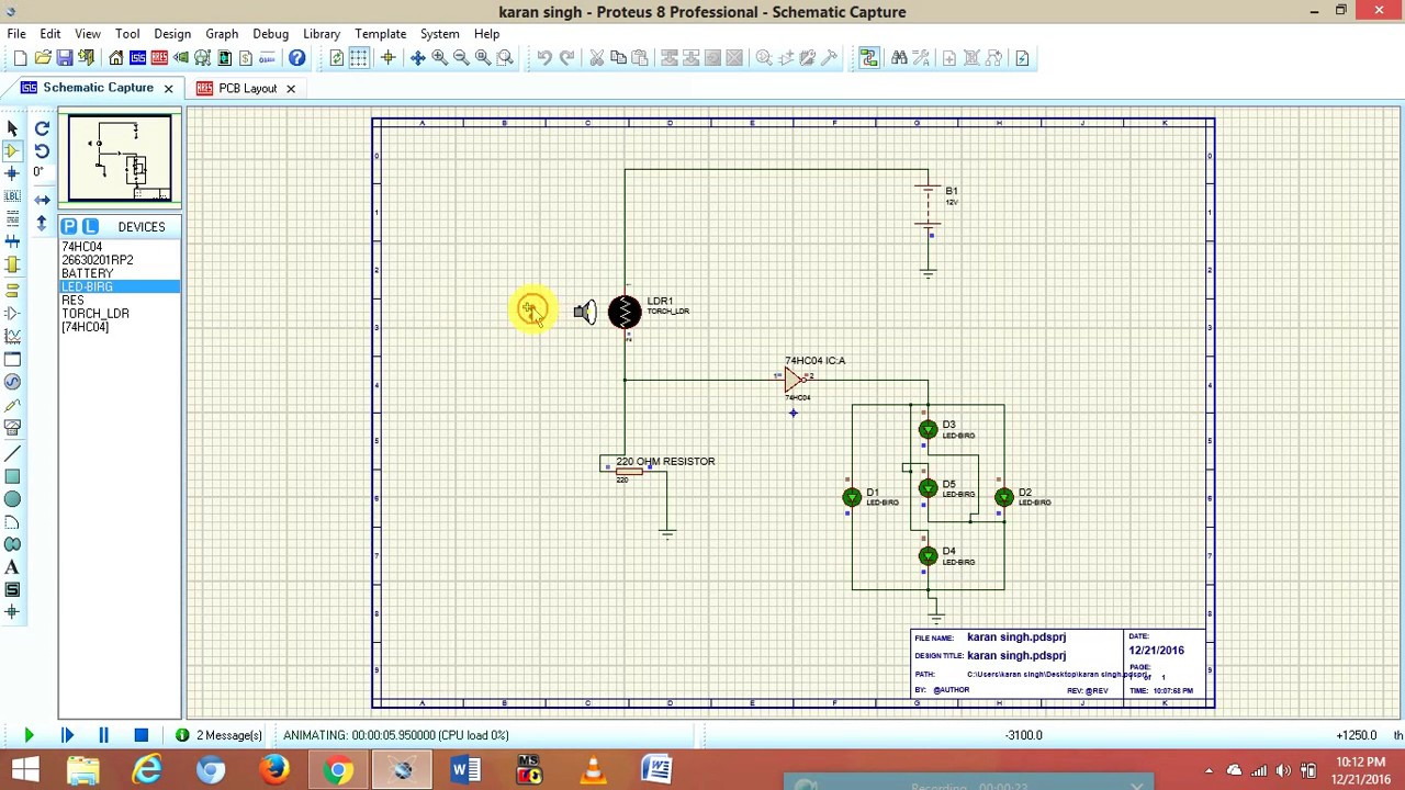 Electronics mini Project-Automatic light lamp Circuit Digram with ...