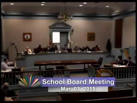 School Board Meeting: March 3, 2015