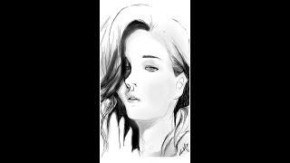 Autodesk | Best Digital sketch with stylus | Jennifer Lawrence speed drawing