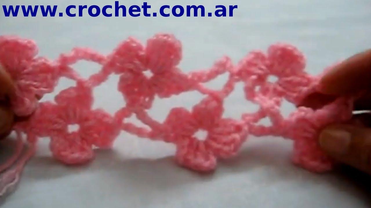 punto margarita parte 4 en tejido crochet o ganchillo tutorial