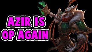 AZIR REWORK FULL GAMEPLAY! HE'S ABOUT TO BE OP AGAIN | TOO MUCH DAMAGE | League of Legends