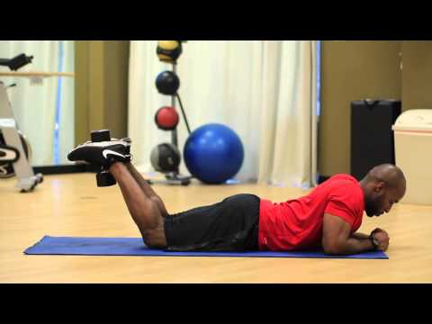 How to: Lying Leg Curl With a Dumbbell at Home