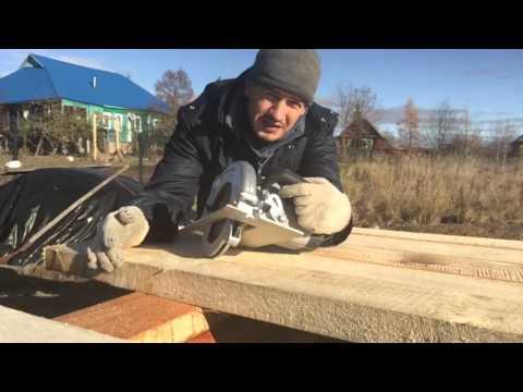 видео: Каркасный дом своими руками. Часть 2. Обвязка. Пол.