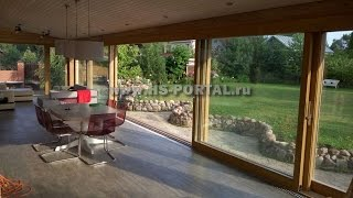 видео Раздвижные окна для стеклянной террасы на даче зимнего сада