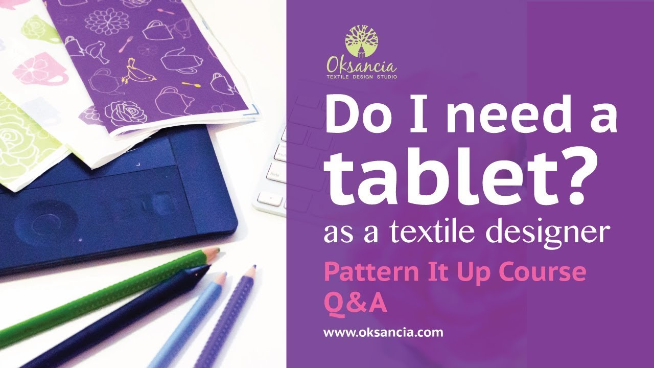 Do I Need A Digital Pen Tablet Like Wacom As A Textile Designer Pattern It Up Course Q A Youtube
