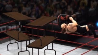 WWE 13 - TABLES BOUNCE!! (CRAZY RING BREAK)