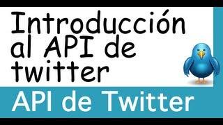 API de Twitter - Introducción