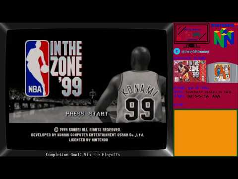 NBA In the Zone 99: Game 29 of 296 Nintendo 64 Games Completed Live!