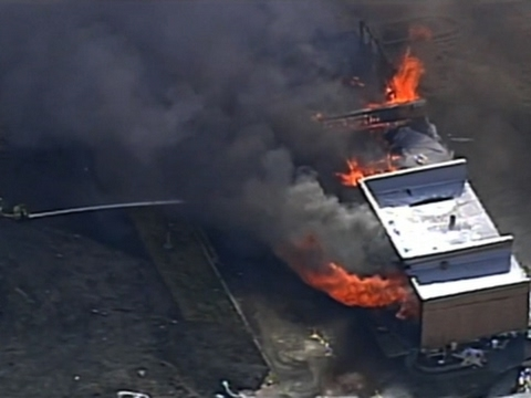 Kansas Construction Site Fire Spreads to Homes