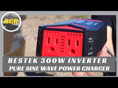 BESTEK 300 Watt Pure Sine Wave Power Inverter | Product Review | 12V outlet to power AC, USB devices