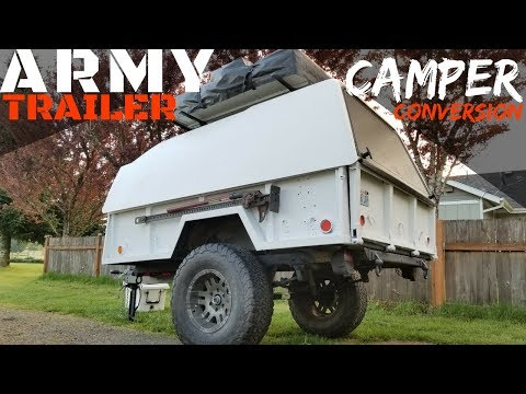 Converting Army Trailer To Overland Camper!! (M101 A1)