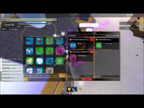 Roblox [SwordBurst 2] Trading my Crimson Observer UA/3 5m and 63 legendary  crystal for sparkle time