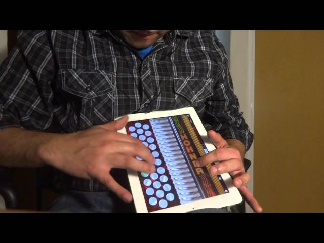 Intros música norteña Ipad (Hohner SqueezeBox app) con pista a la venta para ensayar con acordeón