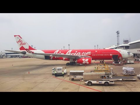 Mount FUJI view Thai AirAsia X A330-300 Bangkok Donmuang to Tokyo Narita 22MAR2018 Extended
