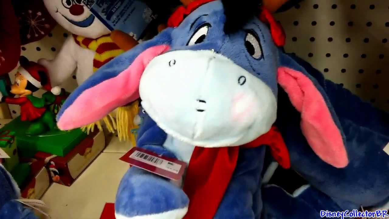 Dancing singing Eeyore Disney plush toy Christmas 2011 - YouTube