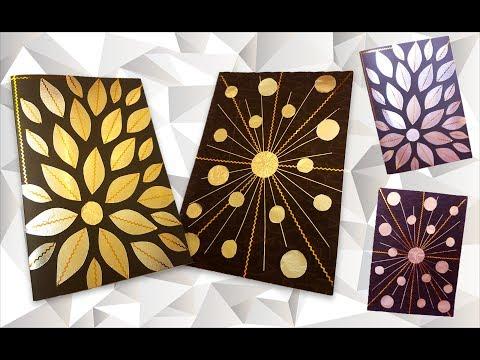 How to DIY Aluminum Foil Art craft tutorial | Как сделать Декор из фольги пошаговая инструкция thumbnail