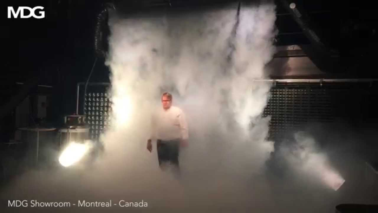 Client Demo Mdg Ice Fog Q Low Fog Curtain Youtube