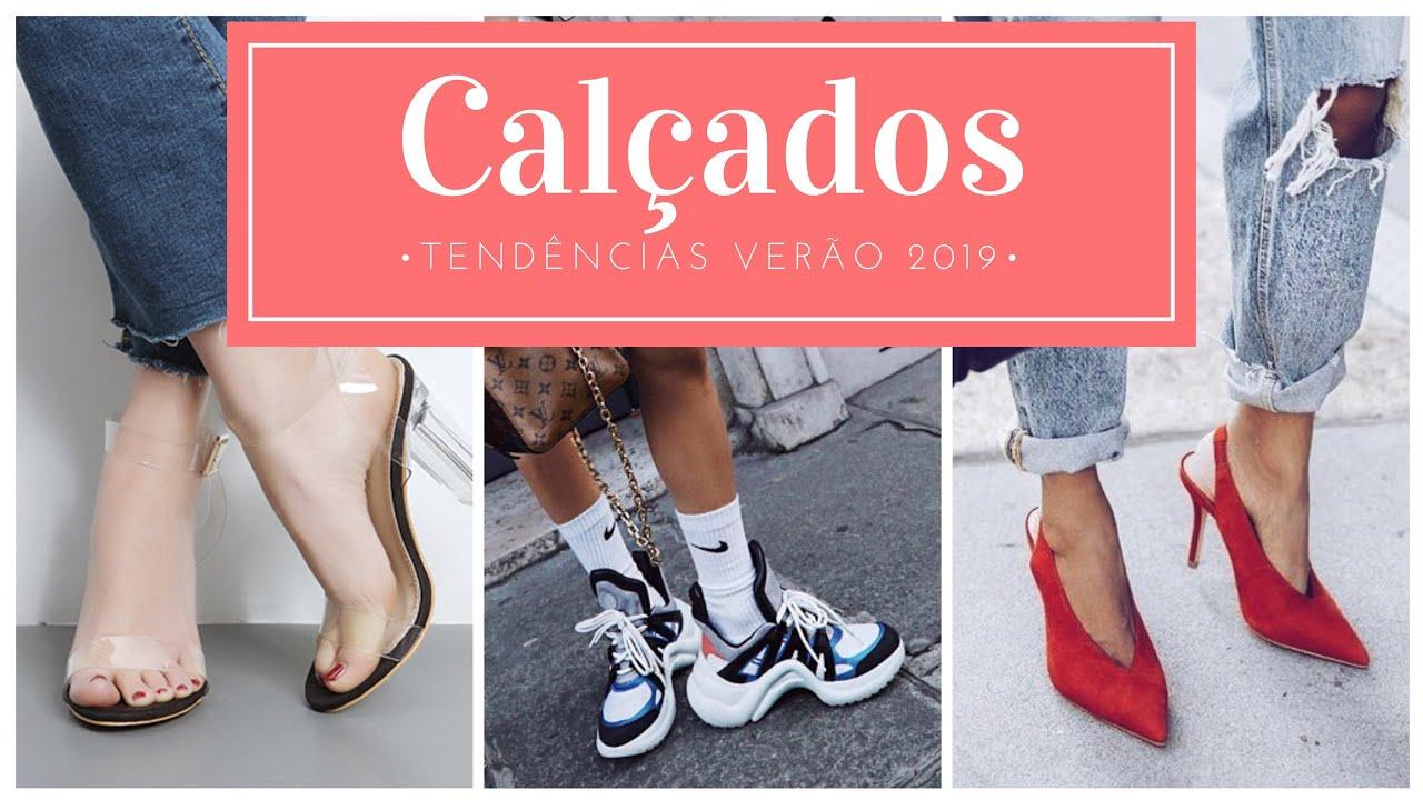 492ebc6efb7 Tendência de sapatos verão 2019 - YouTube
