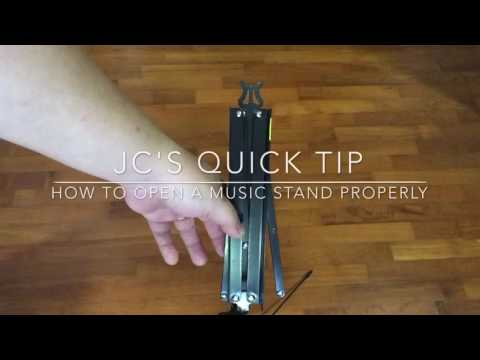 Quick Tip: How to Open a Foldable Music Stand Properly