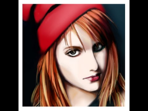 Drawing of Hayley Williams (1st Youtube upload)