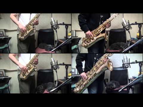 """Detective Conan Main Theme"" on Sax Quartet by myself"