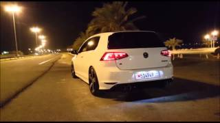vw golf mk7 r armytrix valved exhaust drive bys dsg farts and rev s by aryan xtreme motorsports
