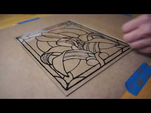 Making Fairy Faux Stained Glass