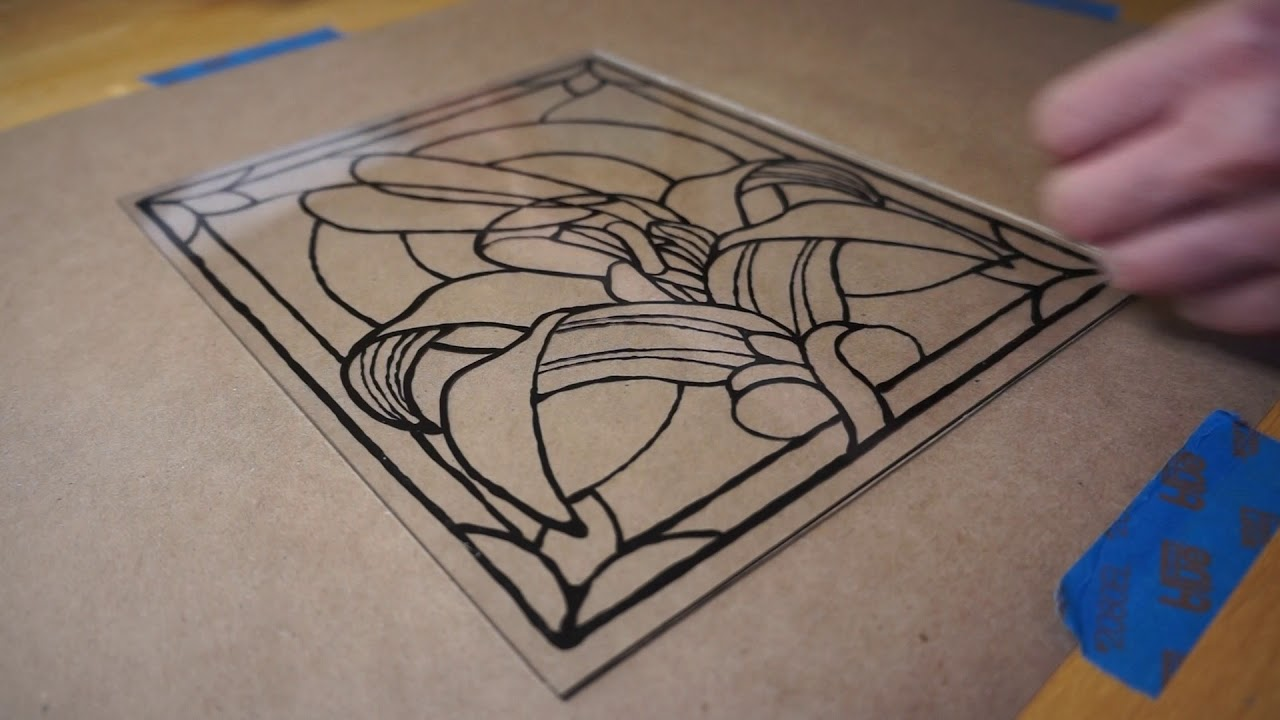 Making Fairy Faux Stained Glass Youtube