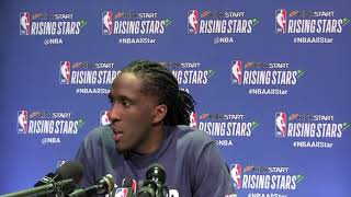 Taurean Prince Answers Questions From Media at All Star Weekend