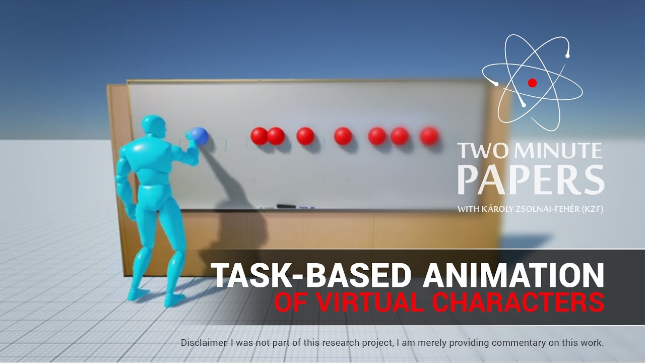 Task-based Animation of Virtual Characters | Two Minute Papers #83