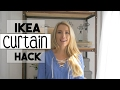 DIY DECOR: IKEA Curtain HACK | DIY Curtain | No Sew Hem