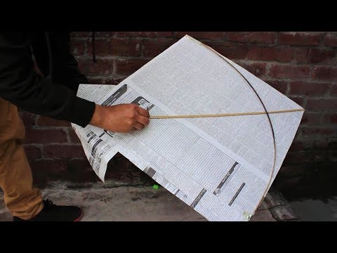 How to make Kite by Newspaper || Newspaper kite at Home aslo Fly it ||