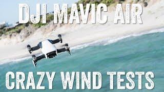 DJI MAVIC AIR: High Wind Tests!