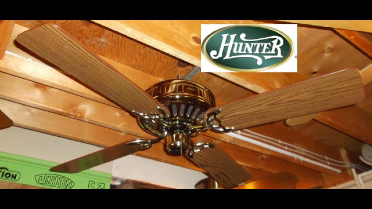 Hunter low profile ceiling fan correct blades remake youtube youtube premium aloadofball Image collections