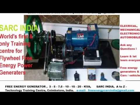 Flywheel Free Energy Generator 10 KVA  Made in India
