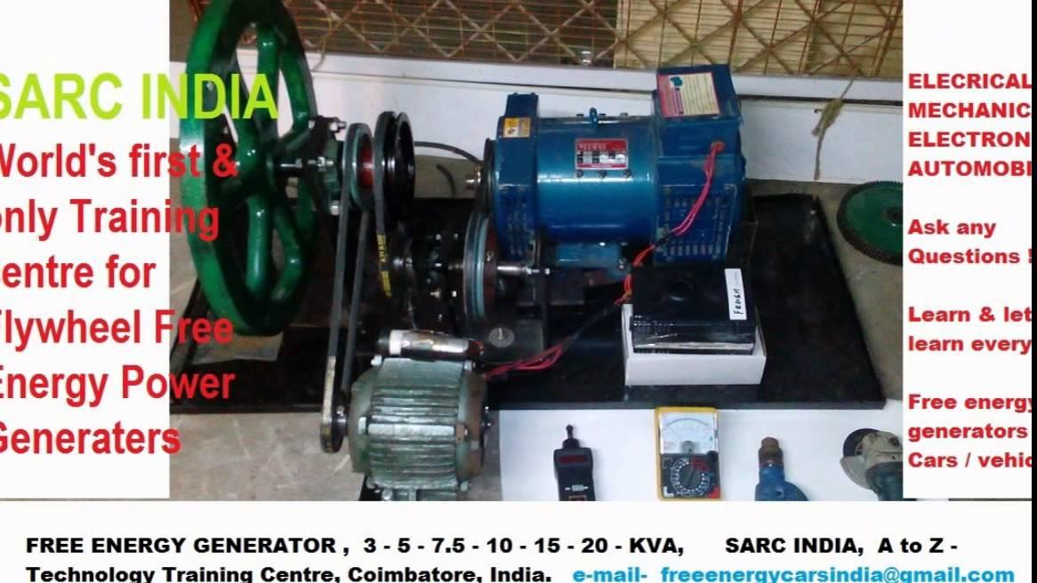 Flywheel Free Energy Generator 10 KVA Made in India - YouTube