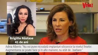 """Adina Alberts, chirurg estetician, despre operațiile lui Brigitte Năstase: """"Așa nu!"""""""
