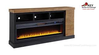 Ashley Tonnari Tv Stand With Fireplace W71568 | KEY Home
