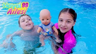hayal ailesi aquaparkta eğlenceli çocuk dizisi